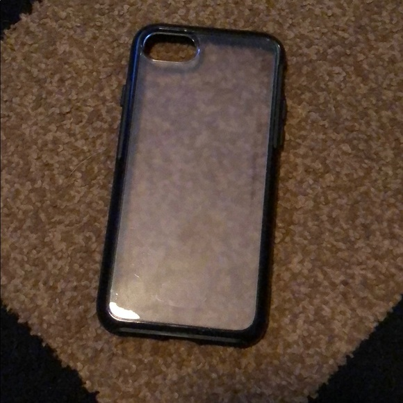 new concept 21ca3 be450 OtterBox SYMMETRY CLEAR iPhone 8/7 BLACK CRYSTAL